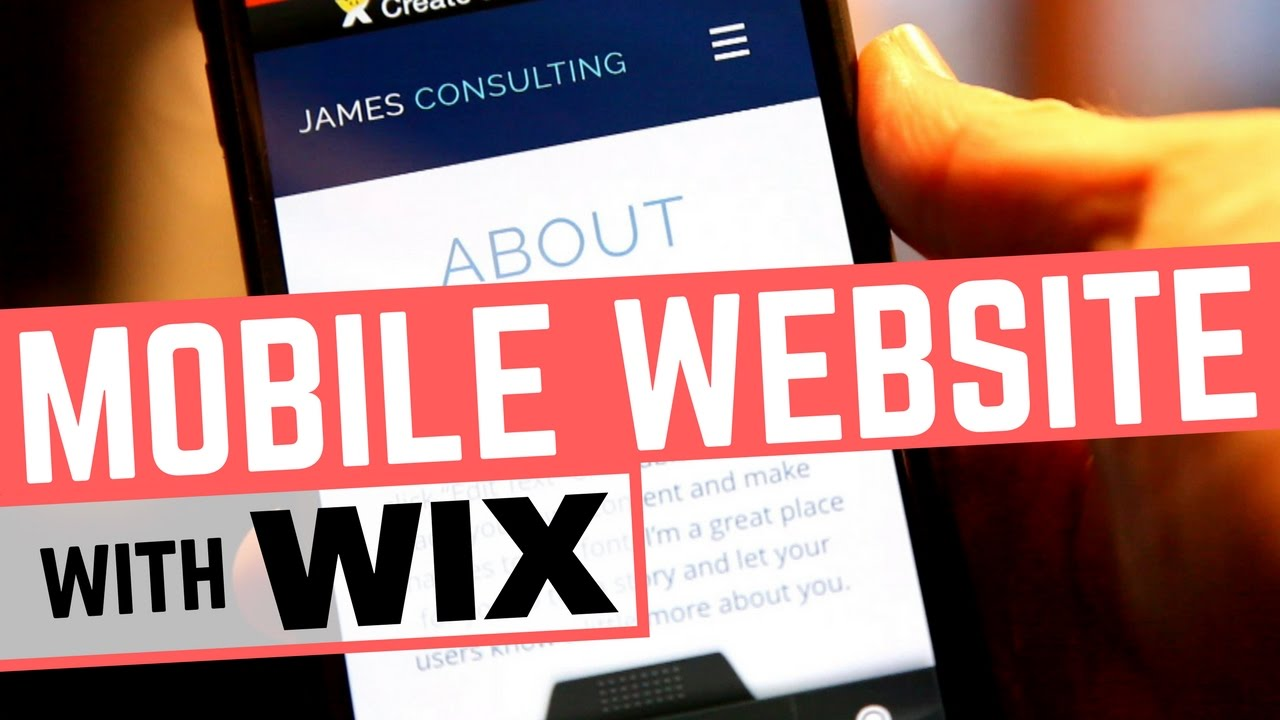 create mobile website with wix mobile editor how automatic is it youtube. Black Bedroom Furniture Sets. Home Design Ideas
