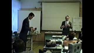 Лекция о технических средствах обучения в Некрасовском колледже 1999 год