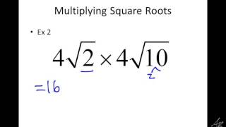 multiplying square roots notes