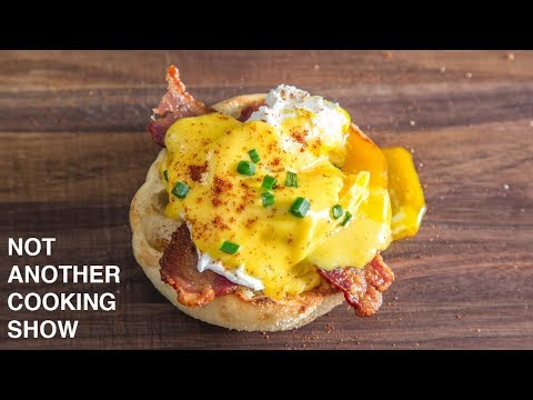 how to make EGGS BENEDICT with EASY BLENDER HOLLANDAISE SAUCE
