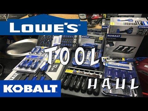 Lowe's Tool Haul - Kobalt Haul