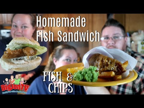 Homemade Fish Sandwich + Fish And Chips || What's Cookin' Wednesday