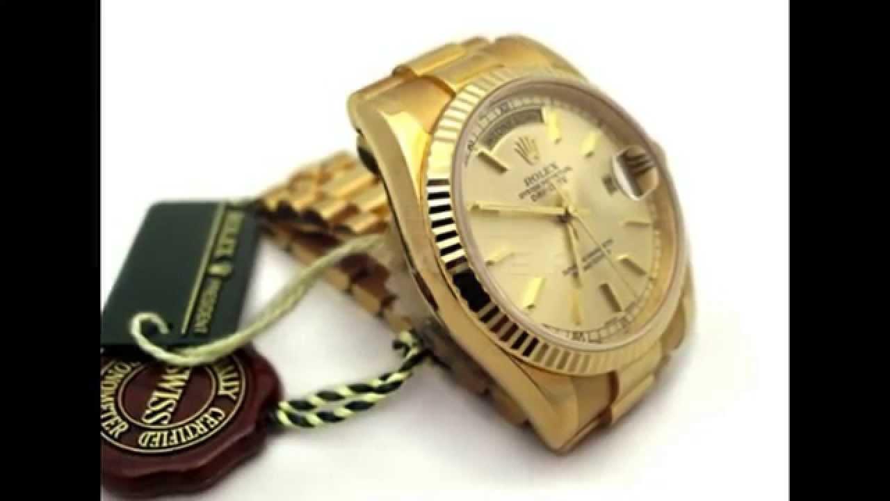 3cbd58c5577 Rolex Day-Date President In 18K Gold On Jubilee Bracelet 118238 M Series