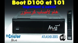 A propos du Boot D100/101 Cristor Atlas HD 200s