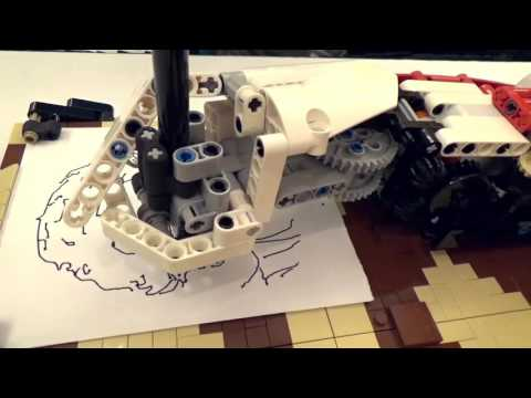 LEGONARDO - A drawing portrayer LEGO robot by Daniele - LEGO MINDSTORMS Inspiration