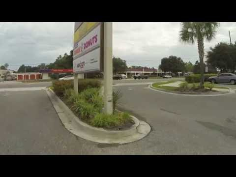 Knights Inn, Jacksonville, FL to Getting our Dunkin' Donuts Drive-Thru on, 6 August 2016 GOPR5509