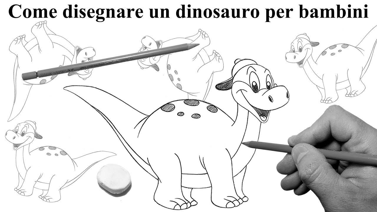 Come Disegnare Un Dinosauro Per Bambini Youtube