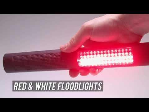 Nightstick NSP-1172 Black 2-In-1 Safety White /& Red LED Light//Flashlight