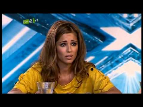 Scary women in X Factor scares cheryl cole .flv