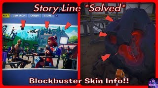 NEW Fortnite SEASON 4 STORYLINE SOLVED! *Explained* & Blockbuster Skin Info!