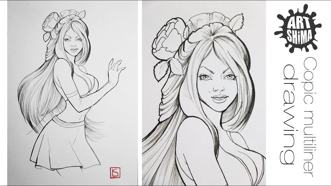 Девочки из комиксов рисунок фото 594-467
