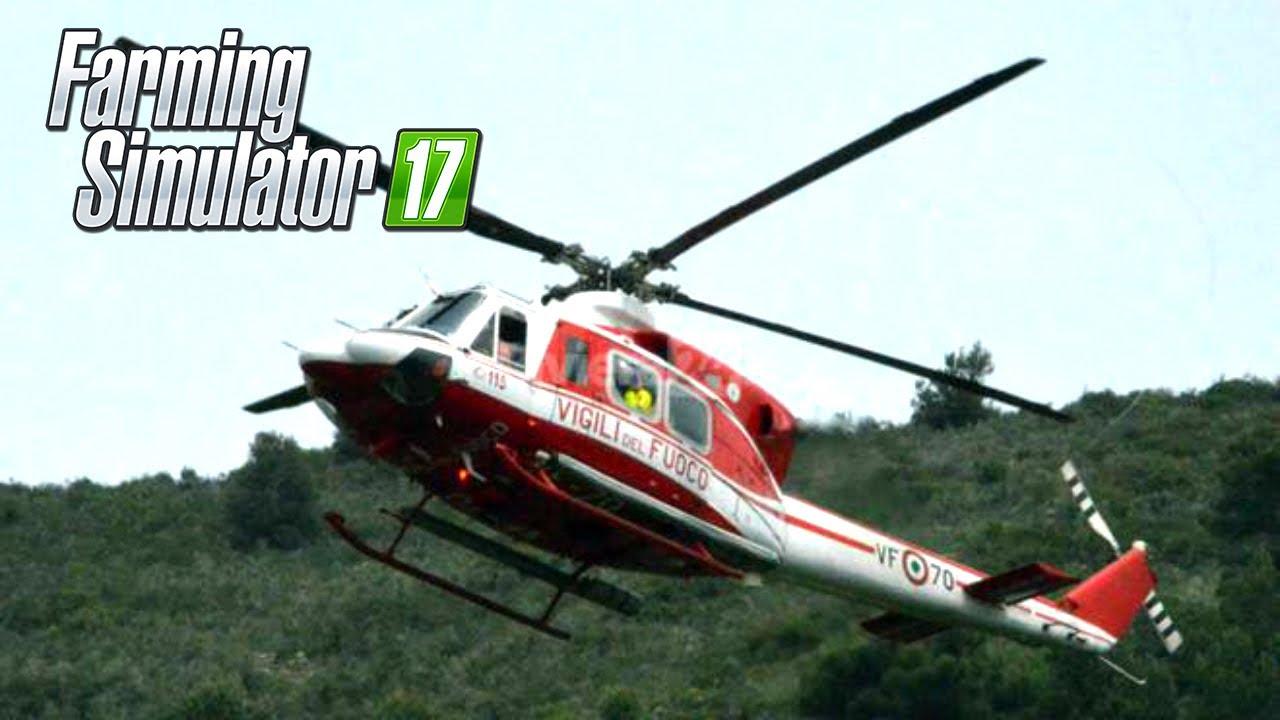 Elicottero Polizia : Intervengono i vvf con l elicottero mod pompieri