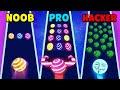 - NOOB vs PRO vs HACKER - Dancing Road