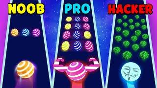 NOOB vs PRO vs HACKER - Dancing Road