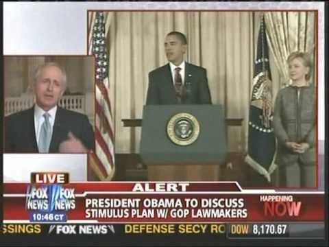 U.S. Senator Bob Corker is interviewed about the economic stimulus plan