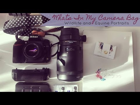 Whats In My Camera Bag for 2018? // WILDLIFE AND EQUINE PORTRAIT PHOTOGRAPHY KIT