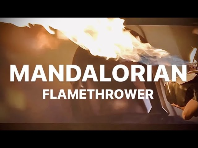 The Glove Of The Mandalorian Wrist Mounted Flamethrower Gauntlet Youtube