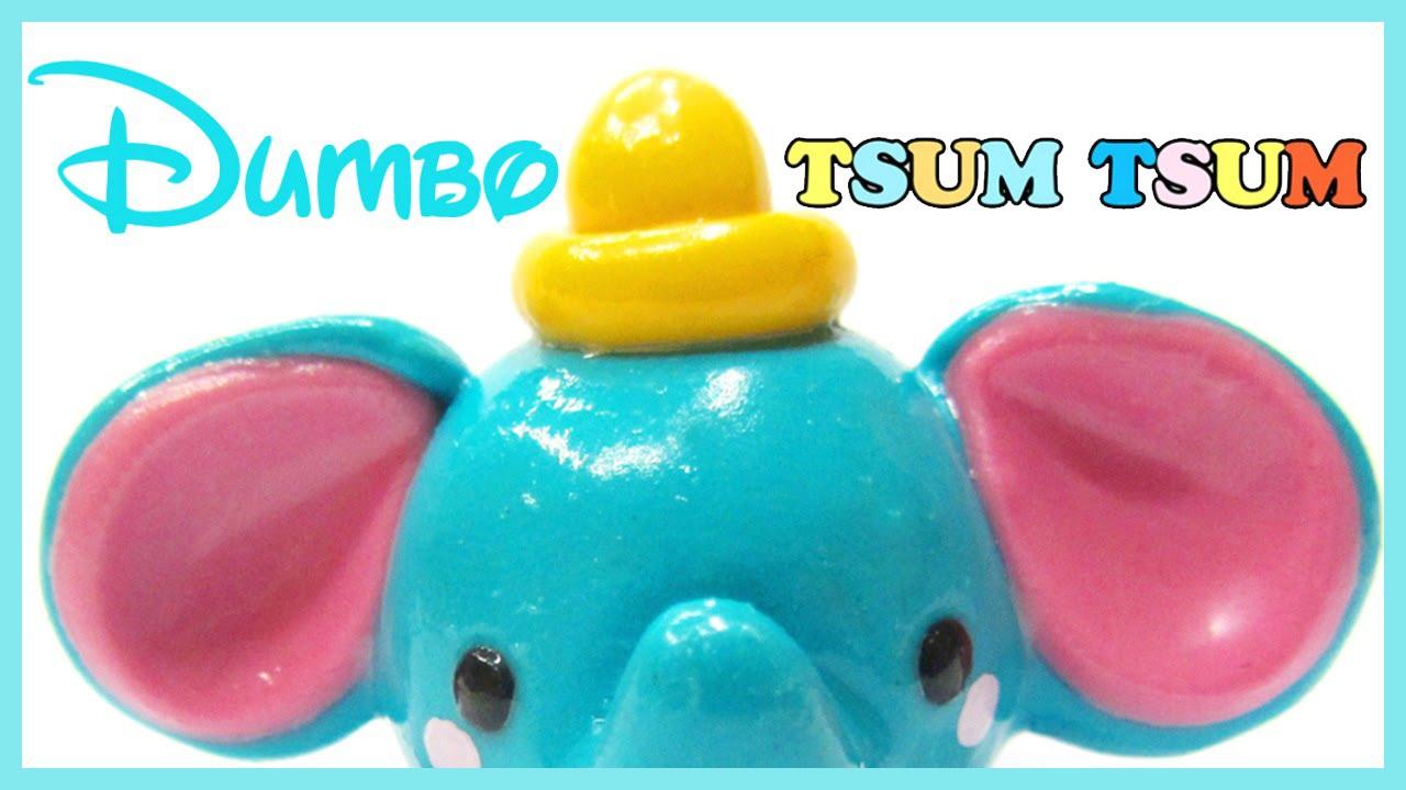 Disney Tsum Tsum Para Colorear Dumbo: Disney Polymer Clay Tutorial Dumbo Tsum Tsum Charm