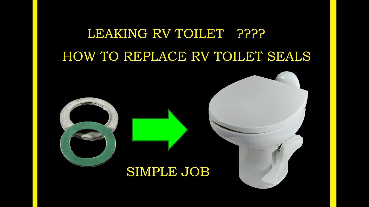 How to fix leaking THETFORD RV Toilet gasket seal, flush valve, not ...