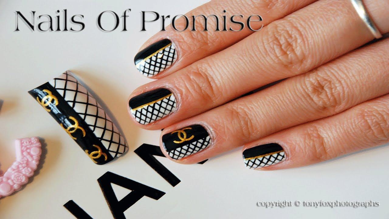 Coco Chanel Live Nail Art Tutorial Nails Of Promise Youtube
