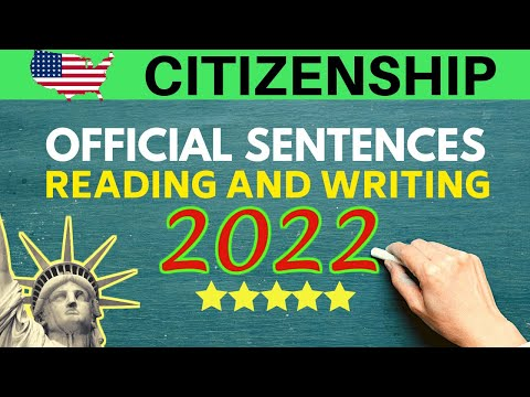 US CITIZENSHIP READING TEST AND WRITING TEST (2020): OFFICIAL SENTENCES