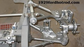Model A Ford Hot Rod Chassis / Frame Plans Using C4 Corvette Suspension