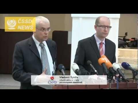 TK ČSSD - Bohuslav Sobotka a Vladimír Špidla ke st. schodku a vládní nepodpoře EU - 9.12.2011