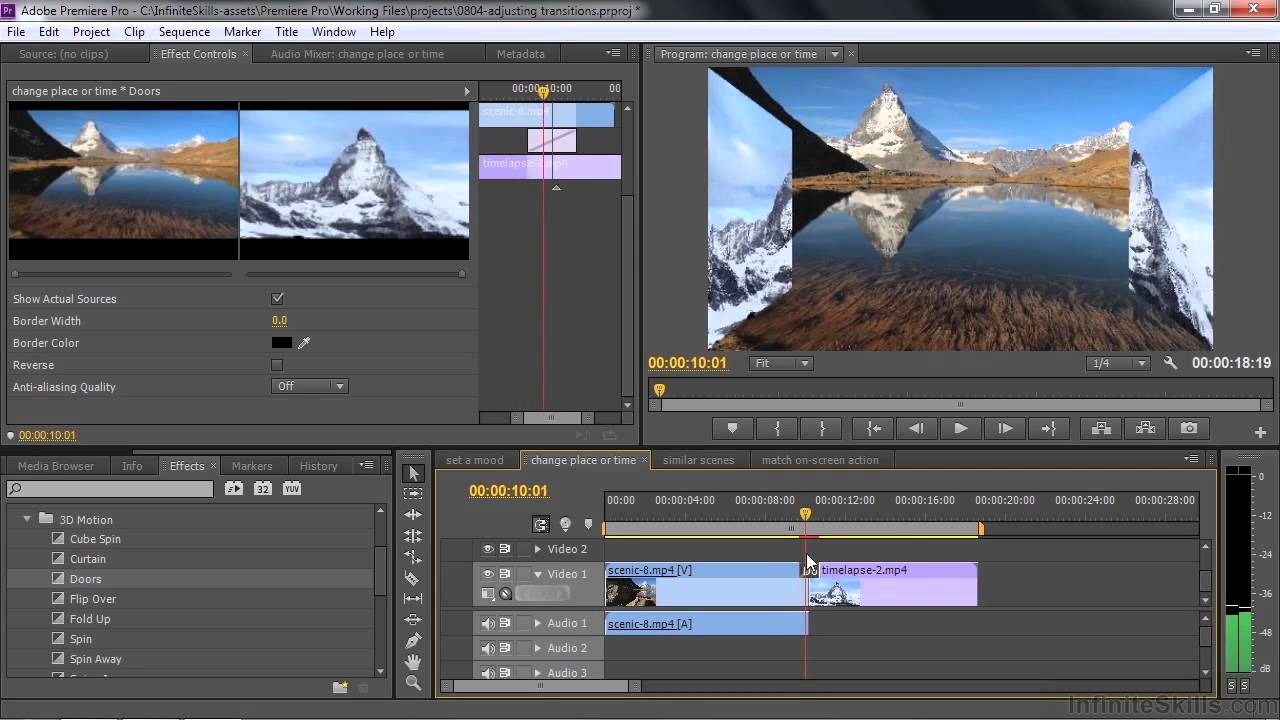 Cc Tutorial Adobe Premiere Pro Cc Tutorial Adjusting Video Transitions