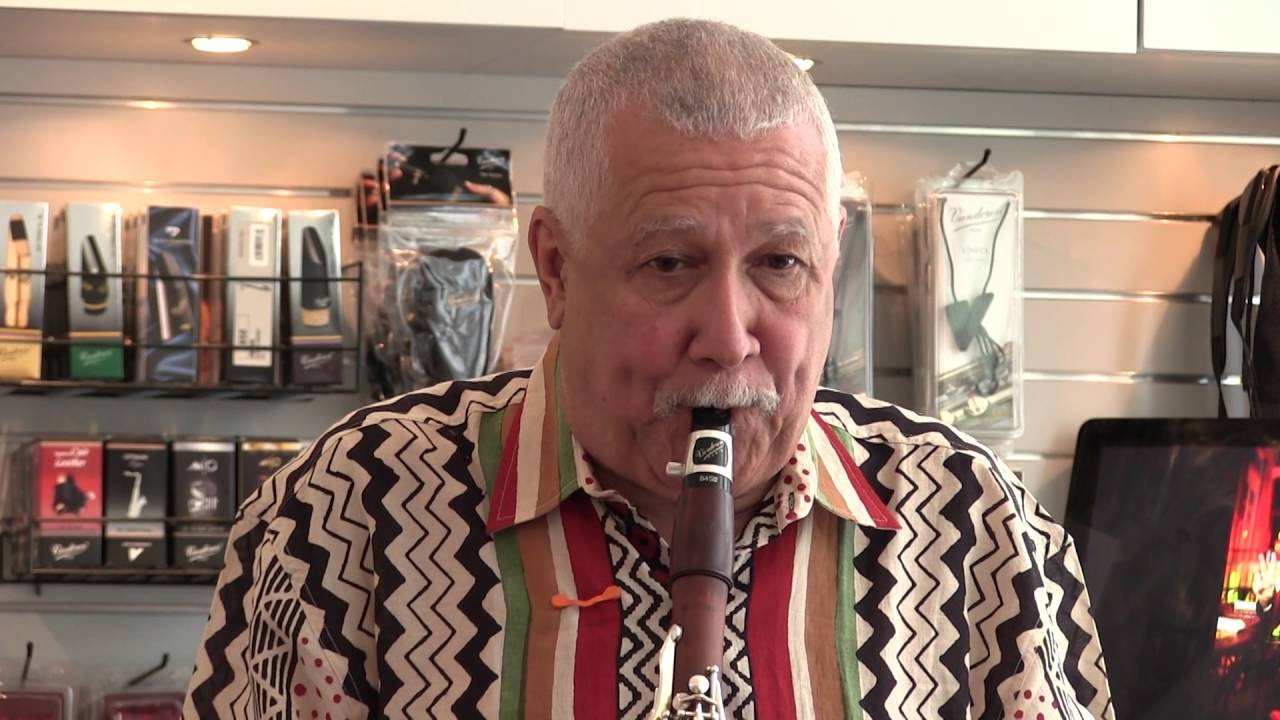 Paquito d'Rivera and his friends visiting the New York Vandoren Studio