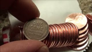 Wheat Pennies found in bank box of almost all 2013 one cent coins!