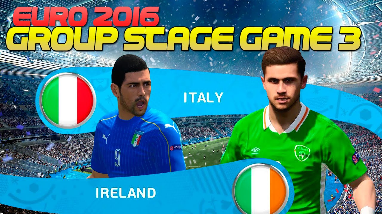 ttb pes 2016 euro 2016 italy playthrough italy vs ireland group stage game 3 youtube. Black Bedroom Furniture Sets. Home Design Ideas