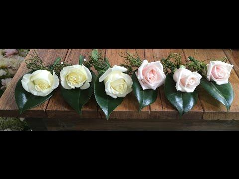Elisma Rose. How to make a buttonhole/boutonniere.