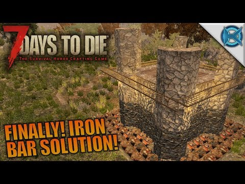 FINALLY! IRON BAR SOLUTION! | 7 Days to Die | Let's Play Gameplay Alpha 16 | S16.4E12