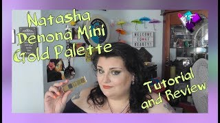 Natasha Denona   Mini Gold Palette   Tutorial and Review   ASMR Makeup