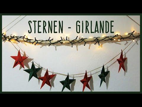 Sternengirlande | Stern falten | Origami | Weihnachtsdeko selber machen