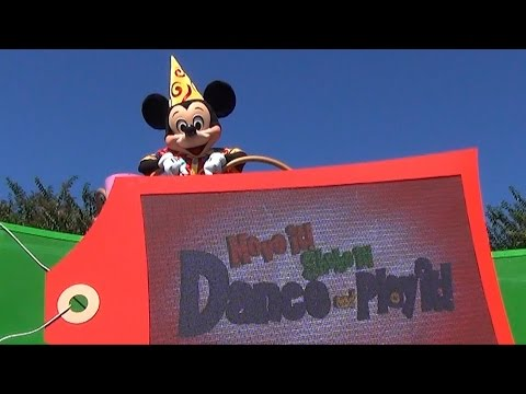 FULL Move It! Shake It! Dance & Play It! Street Party Parade at Magic Kingdom - Stitch, Phineas Ferb