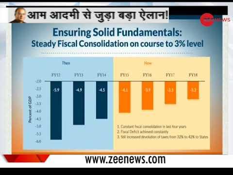 Watch: Finance Minister Arun Jaitley's big announcement Live | वित्त मंत्री अरुण जेटली लाइव