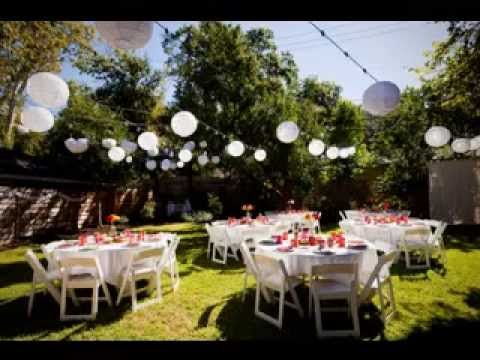 Simple Backyard Wedding Decorations Ideas Youtube