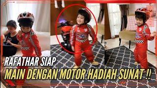 RAFATHAR MALU-MALU DI FOTO SAAT MAU BERMAIN MOTOR HADIAH SUNAT !!