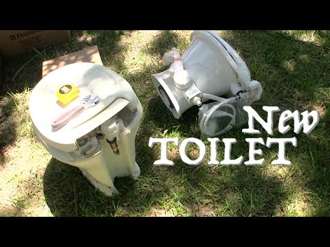 Installing New Porcelain Dometic 310 Series RV Toilet