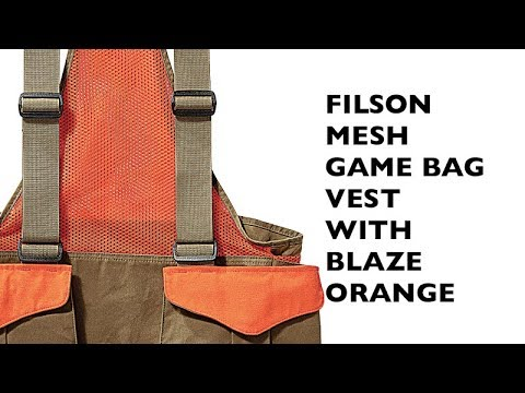 Filson Mesh Game Bag With Blaze Orange