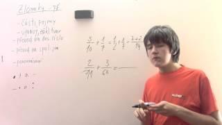 Zlomky - sčítání a odčítání - příklady