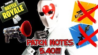 """TOUT SUR PATCH NOTE 5.40 FORTNITE!!! Grappin!!! Bolt ADDIO!!! ADDIO RPG!!!"
