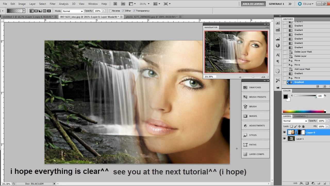 Photoshop Tutorial How to fade two images together YouTube
