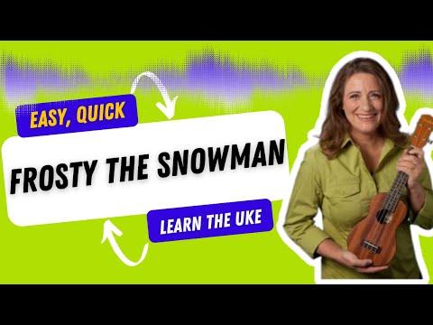 Frosty the Snowman Easy Ukulele Tutorial for Beginners - 21 Ukulele Songs