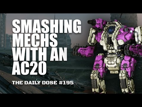 Smashing Light Mechs with an AC20 - The Boomneck - Mechwarrior Online The Daily Dose #195