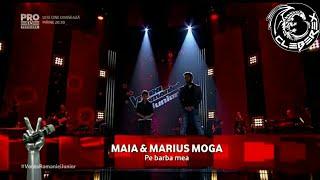 Repeat youtube video Vocea Romaniei Junior - Finals (Maia & Marius Moga - Pe Barba Mea)