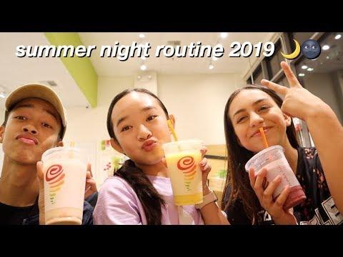 summer night routine 2019   Nicole Laeno
