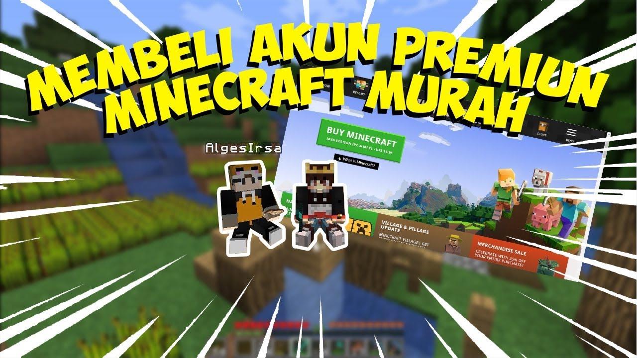 Minecraft Akun Premium Murah Youtube