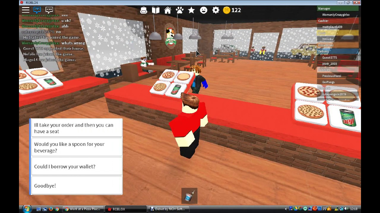 I Have A Garage Roblox Work At A Pizza Place Youtube